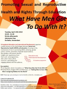 April 15, Promoting Sexual and Reproductive Health and Rights Through Education - what have men got to do with it?