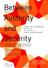 Public Lecture 29 November 2012 Between Austerity and Security